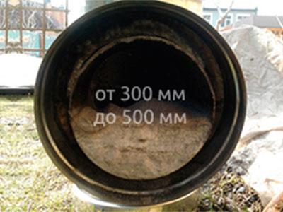 Аварийное устранение засора диаметром от 300 мм до 500 мм